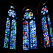 Постер, плакат: Stained glass works by Marc Chagall in Reims Cathedral