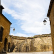 Inner yard of Sedan castle, France — Stock Photo