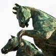 Horse on top of Monument Vittorio Emanuele II, Rome, Italy — Stock Photo