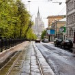 Stock Photo: Carriageway of Pokrovsky Boulevard in Moscow