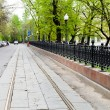 Stock Photo: Carriageway of Chistoprudniy Boulevard in Moscow