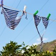 Drying female swimsuit outdoor — Stock Photo