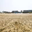 Stock Photo: Resort buildings on sand beach in Le Touquet