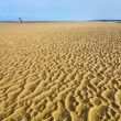 Wet sand during low water on beach of English Channel — Stock Photo