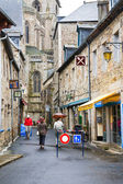 Street to Treguier Cathedral — Stock Photo