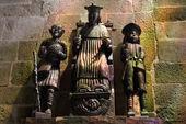 Sculptuur in treguier kathedraal, Frankrijk — Stockfoto