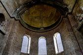 Ancient cross on ceiling of Santa Irine church — Stock Photo