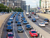Garden ring street near Triumph Square in Moscow — Stock Photo
