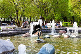 Fountain on Clear Ponds Boulevard in Moscow — Stock Photo