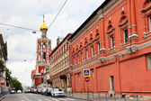 Petrovka street near st peter monastery in Moscow — Stock Photo