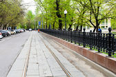 Carriageway of Chistoprudniy Boulevard in Moscow — Stock Photo