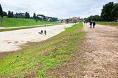 在罗马的古代竞技场的理由 — 图库照片