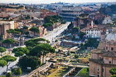 Via dei Fori Imperiali to Coliseum, Rome — Stock Photo