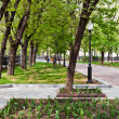 Pedestrian part of Pokrovsky Boulevard in Moscow, Russia — Stock Photo