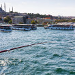 Fishing in Bosphorus, Istanbul, — Stock Photo