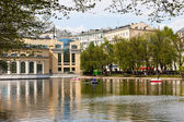 Clean Ponds in Moscow in sunny day — Stock Photo