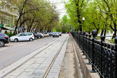 Roadway of Chistoprudniy Boulevard in Moscow — Stock Photo