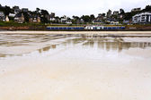 Urban sandy beach in Brittany — Stock Photo