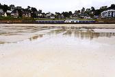 Urban sandy beach in Brittany — Stockfoto