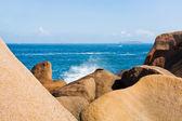 Pink Granite Coast in Brittany — Stock Photo