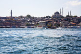 Golden Horn channel and Istanbul, — Stock Photo