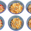 Top view on traditional asian pilau — Stock Photo