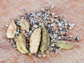 Heap of dried cardamon — Stock Photo