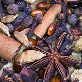Dried spices for gluhwein — Stock Photo
