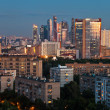 Late summer blue twilight over Moscow city — Stock Photo #27322017