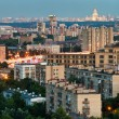 Panorama of Moscow in summer twilight — Stock Photo