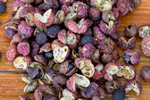 Dried seeds of hot Sichuan pepper — Stock Photo