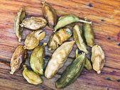 Dried seeds of cardamon — Stock Photo