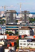 Construction en ville — Photo