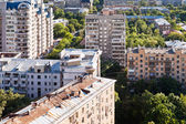 Above view of urban houses — Stock Photo