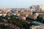 Moscow skyline in early evening — Stock Photo