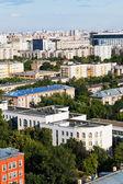 Nad zobrazením oblasti městského života v moskvě — Stock fotografie