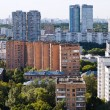 Above view of urban block in Moscow — Foto Stock