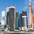 View on new Moscow City buildings in summer — Stock Photo