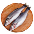Stock Photo: Two raw sebass
