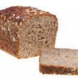 Stock Photo: Grain bread loaf and sliced hunch