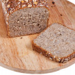 Stock Photo: Loaf of rye grain bread