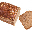 Stock Photo: Top view of grain bread loaf