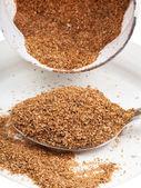 Tablespoon of wheat bran — Stock Photo