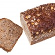 Stock Photo: Top view of loaf of grain bread