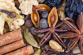 Spices for mulled wine close up — Stock Photo