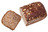 Top view of loaf of grain bread — Stock Photo