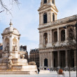 Fountaine Saint-Sulpice, Paris — Stock Photo