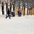 Palais Royal garden (Jardins du Palais-Royal) in Paris, France — Stock Photo