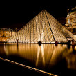 Stock Photo: Glass Pyramid of Louvre, Paris at night