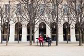 パリのパレ ロイヤル ガーデン — ストック写真